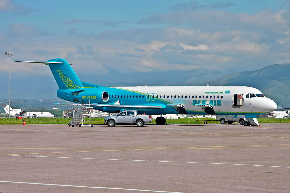 Fokker 100 Seating Plan